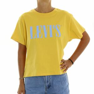 T-SHIRT LOGO GIALLO